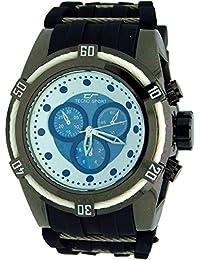#TS8566-7 Tecno Sport Black N White Faux Chronograph Mens Watch