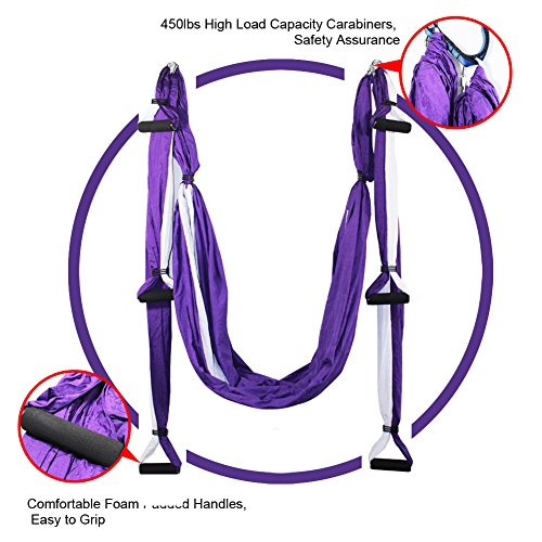 EuroSports High Load Capacity Aerial Yoga Swing/ Inversion/ Hammock/ Sling For Flying Antigravity With a Carrying Bag Review
