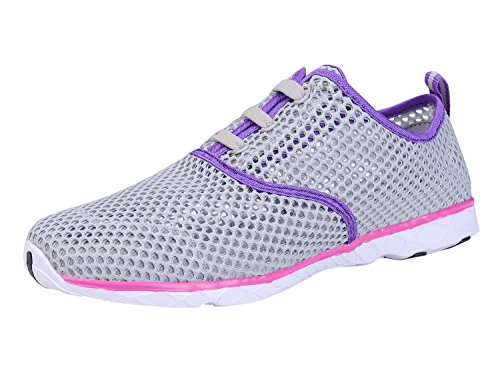 Shoes Aqua 5EU Quick Mesh Slip 4UK Shoe Water Ladies Grey Breathable On Drying IceUnicorn 17 Trainers 35 Womens BwqEYEA