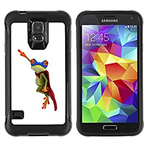 Jordan Colourful Shop@ Frog Flying Hero White Minimalist Rugged hybrid Protection Impact Case Cover For S5 Case , G9006 Cover Case ,Leather for S5 ,S5 Cover Leather Case ,G9006 Leather Case