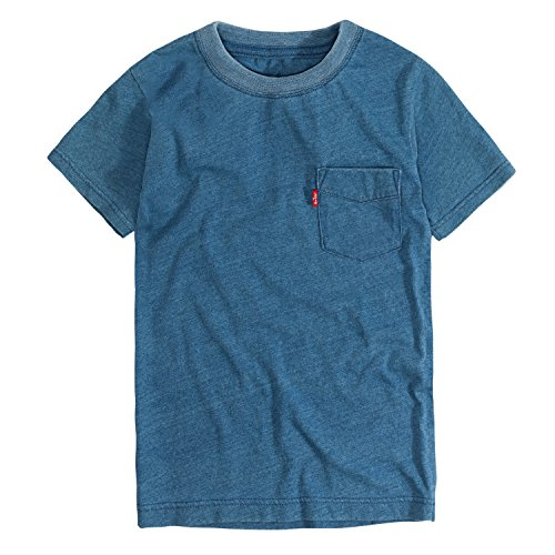Levi's Big Boys' Basic T-Shirt, Light Indigo Sunset, S