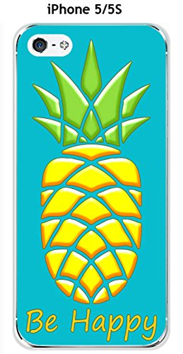 Cover Ananas turchese Be Happy per Apple Iphone 5/5S