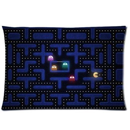Hey-Boss Pookeb Grid Pac Man Custom printed pillow cases Zippered pillowcase 20