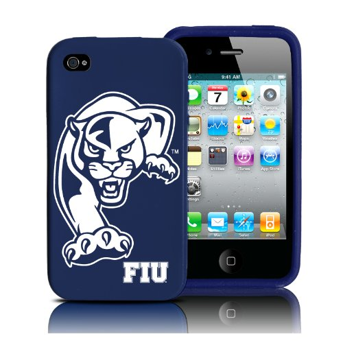 Price comparison product image Silicone Case for iPhone 4 / 4s - Florida International Golden Panthers - Retro Series - Dark Blue - Fits AT&T,  Verizon,  Sprint,  Unlocked