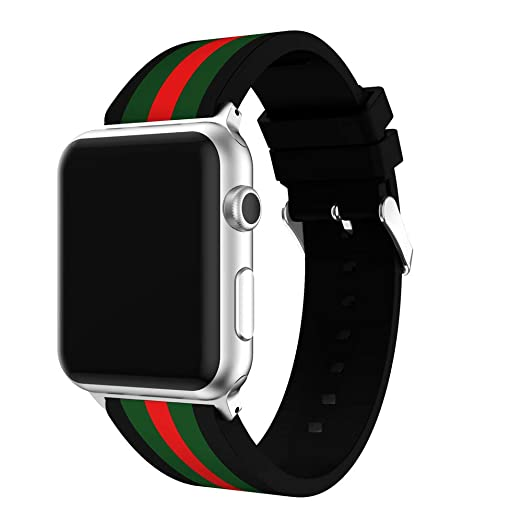 ff4dfd372aaf4 Urberry 42mm Floral Silicon Band for Apple Watch Series 3/2/1, Sport,  Edition