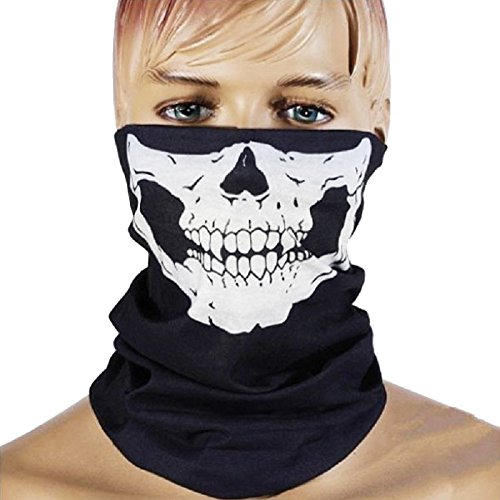 Lightinthebox Skull Mask Bandana Headwear Scary Dust-Proof Windproof Motorcycle Half Face Mask Neck Gaiters Neckwarmers/Neck Tube Pollution Protection Mask Balaclava Windproof, Pack of (007 Costume Designer)