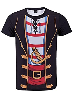 Funny World Men's Pirate Novelty Costume T-Shirts