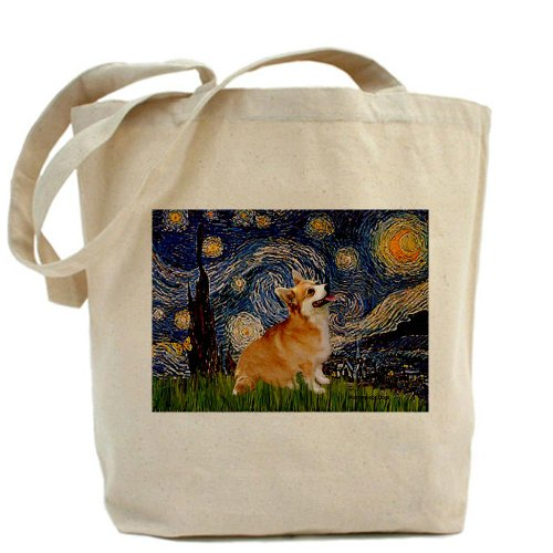 Starry Night Corgi Tote Bag by CafePress by CafePress