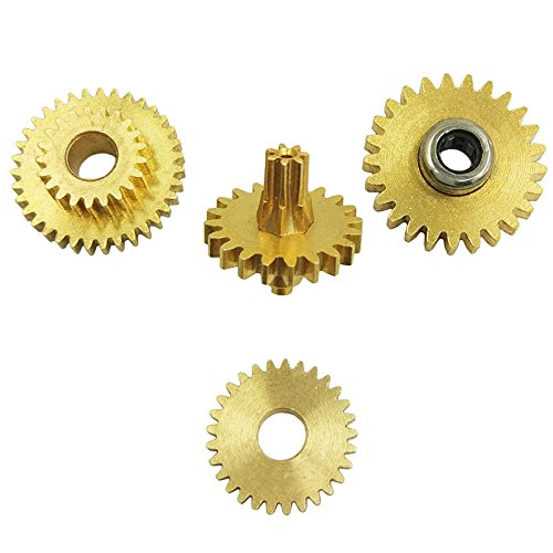 Wingostore 30 Notes Hand Crank Music Box Movement with Copper Gear DIY Make Your Music Tool Kit (Replacement of Copper Gear)