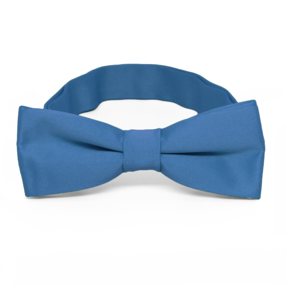 TieMart Boys Blue Bow Tie