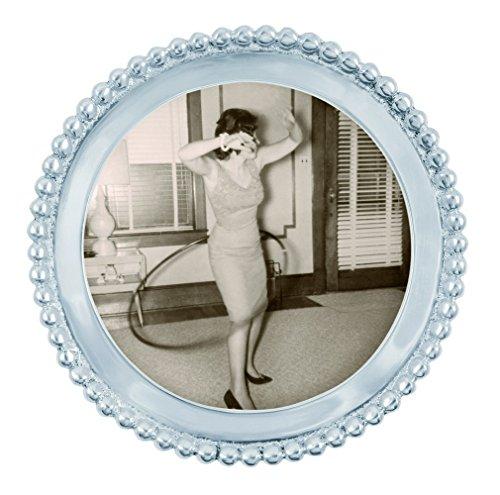 - Mariposa Beaded Round Frame
