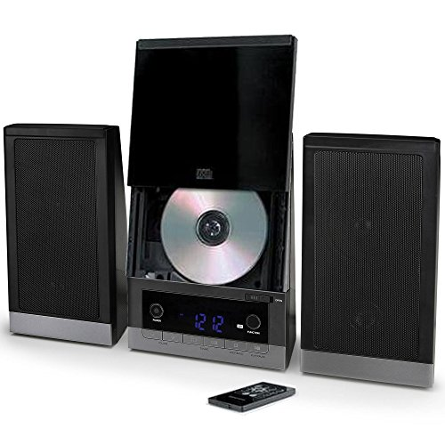 - ONN Audio Compact Home CD Music Shelf System Vertical-loading with Stereo Dynamic Speakers & Digital AM/FM Radio LCD Display & Aux Line in ONB-203 (Renewed)