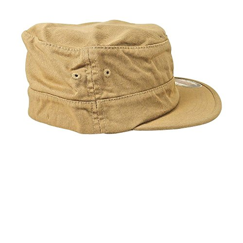 - Military Style Cadet Cap, Patrol, Army Hat, Flex Fit - Top Gun, Khakhi - Large/X-Large.