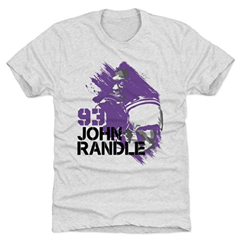 - 500 LEVEL John Randle Triblend Shirt XXX-Large Tri Ash - Vintage Minnesota Vikings Men's Apparel - John Randle Paint P