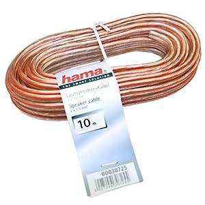 Hama Lautsprecherkabel : Solides LS Kabel mit roter Plus ...
