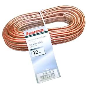 Hama 030725 - Cable de altavoces 2x1,5 mm, 10 m
