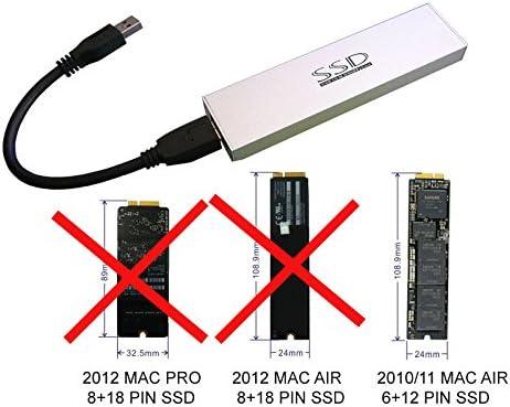 ADAPTER WORLD Carcasa USB 3.0 para MacBook Air de 2010/2011 12 + 6 ...