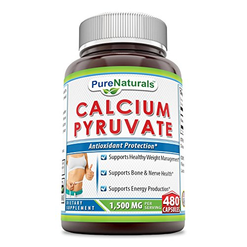UPC 816511028545, Pure Naturals Calcium Pyruvate, 750 Mg, - #1 Fat-burning Formula for Thighs Helps Support Metabolism (480 Capsules)