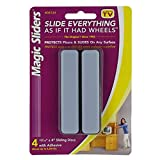 Rectangle Furniture Sliders 4'' x 15/16'' - Pack of 4