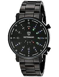 DETOMASO Men's G-30730B SPACY TIMELINE 2 Binary  Trend schwarz/schwarz Digital Display Quartz Black Watch