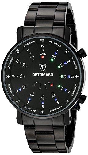 DETOMASO Men's G-30730B SPACY TIMELINE 2 Binary  Trend schwarz/schwarz Digital Display Quartz Black - Trend Fashion Timeline