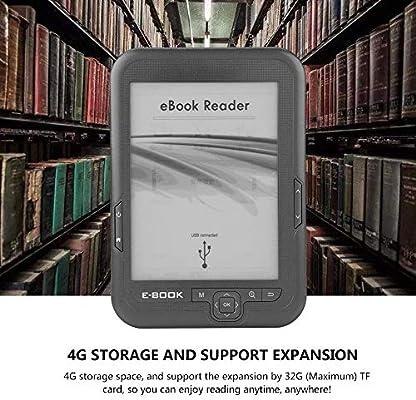 Ebook Reader, 6 Pulgadas E-Reader 4G Stroage con música/Biblioteca ...