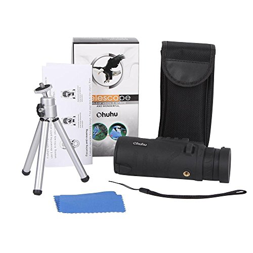 Portable Optics Zoom Up x52 Spotting Scope with Tripod Widely used For Outdoor Beach Activities, Bird Watching, Education Nature learning, Astronomy, Traveling Summer fun Best Gift Idea (Tac Folder)