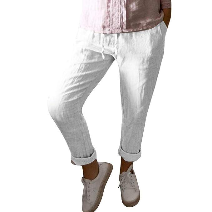 AmaSells 2019 - Pantalones Informales para Mujer, de Color ...