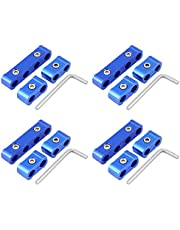 KIMISS 12Pcs Aluminum alloy Braided Engine Spark Plug Wire Hose Separator Clamp Fitting Kit for 8mm 9mm 10mm