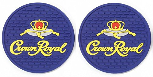 Crown Royal Canadian Whisky Bar Coasters Spill Mats set of 2