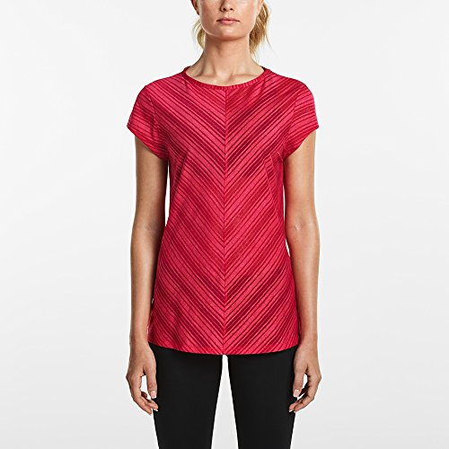Saucony Women's Breeze Short Sleeve Top, Raspberry Beret, X-Small