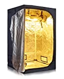 Anjeet Grow Tent Mylar Hydroponic Grow Tent for Indoor Plant Growing Non Toxic Hut (48''x48''x80'')