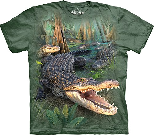 The Mountain Men's Big and Tall Gator Parade T-Shirt, Gre...