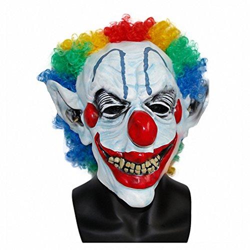 Toy Joker Clown Costume Mask Creepy Evil Scary