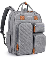 Baby Diaper Backpack with Tons of Pockets, Built-in Stroller Straps and Changing Pad