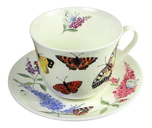 Roy Kirkham Butterfly Garden Large Breakfast Tea Cup Teacup