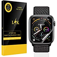 [6 Pack] LK for Apple Watch Series 4 Screen Protector 40mm, [HD Clear Anti-Bubble] With Lifetime Replacement Warranty