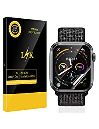LK [6 Pack] Screen Protector for Apple Watch Series 4 40mm, [HD Clear Anti-Bubble] with Lifetime Replacement Warranty