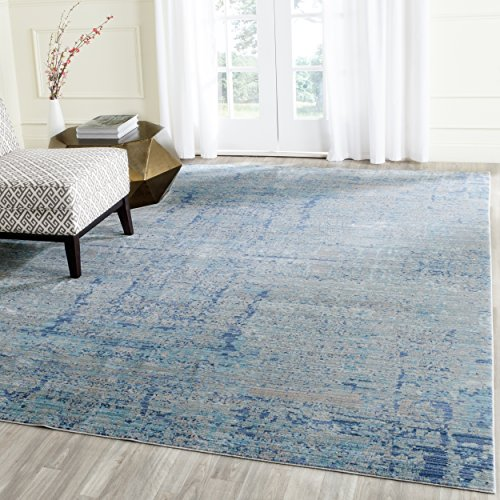 (Safavieh Mystique Collection MYS971D Vintage Watercolor Light Blue and Multi Distressed Area Rug (9' x 12'))