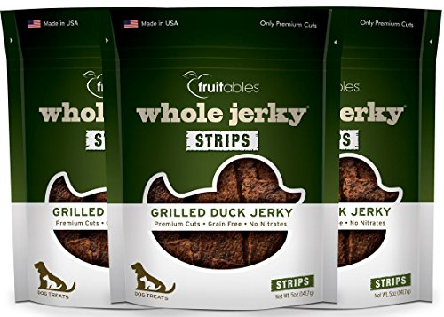 Fruitables 5 Ounce Grain Free Grilled Duck Whole Jerky Dog Treats