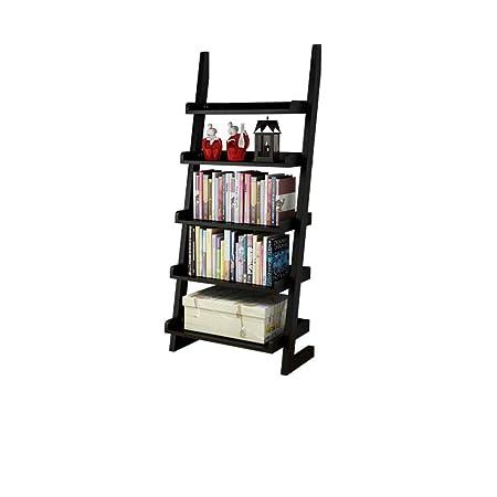 KELE Bamboo Esquina Natural Escalera Librería, Soporte de ...