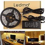 LEDMO LED Strip Light Kit, 300 SMD5630 LEDs, Non-waterproof,Warm White,LED Light Strip+12V/5A Power Supply