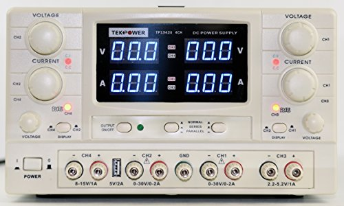 Tekpower TP1342U 30V/2A QUAD 4-output Variable DC Power Supply