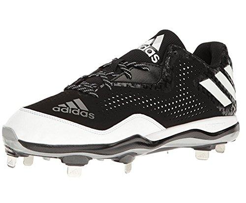 adidas Men's Icon MD Baseball Shoe, Black/White/Metallic/Silver, (12 M - For Md Men