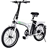 "Goplus 20"" 250W Folding Electric Bike Sport Mountain Bicycle 36V Lithium Battery"