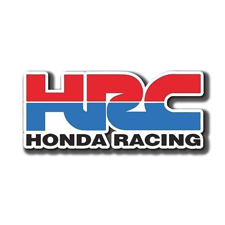 amazon com hrc honda racing logo sticker decal for car window rh amazon com honda racing logo stickers honda racing logo wallpaper