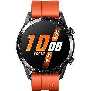 "HUAWEI Watch GT 2 (46mm) Smart Watch, 1.39"" AMOLED Display with 3D Glass Screen, 2 Weeks Battery Life, GPS, 15 Sport Modes, 3D glass screen, Bluetooth Calling Smartwatch, Orange"
