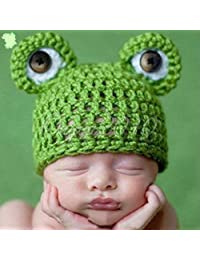 Frog Hat, Newborn Baby Girl/Boy Crochet Knit Costume Photo Photography Prop Hats Outfits
