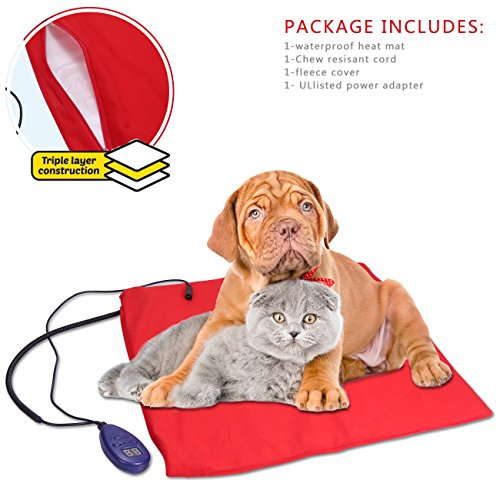 Heating pads for pets electric heating pad for dogs cats for Sound proof dog bed