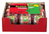 Scotch Tough Grip Moving Packaging Tape, 1.88 in. x 22.2 yd., 1.5 in Core, 1 Roll with Dispenser/Pack (150-6)
